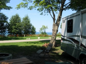 Orchard Beach Campground, gateway to M22.