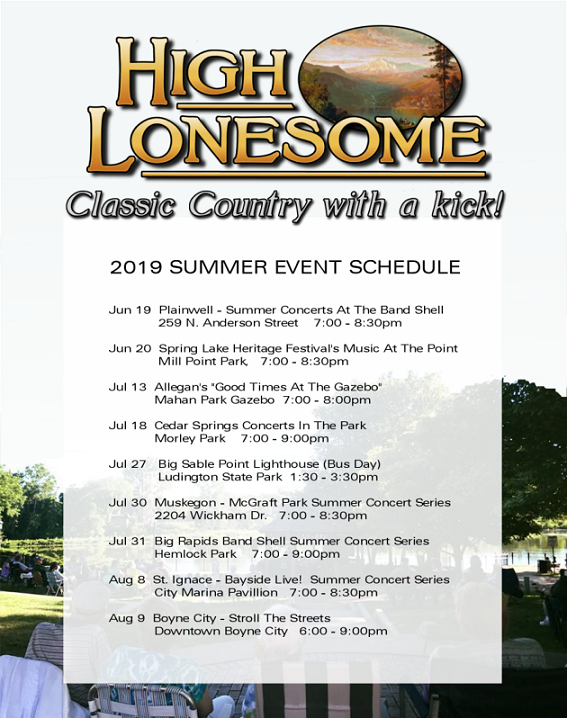 High Lonesome's 2019 Event Schedule